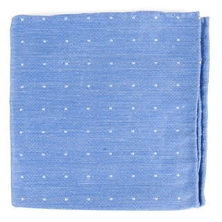 Bulletin Dot Light Cornflower Pocket Square