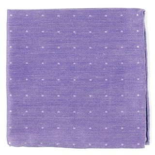 Bulletin Dot Lavender Pocket Square