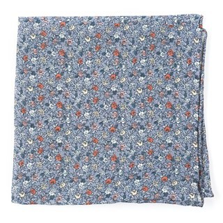 Floral Buzz Grey Pocket Square