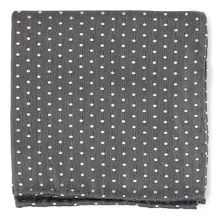Shock Dots Charcoal Pocket Square