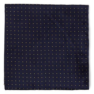 Rivington Dots Navy Pocket Square