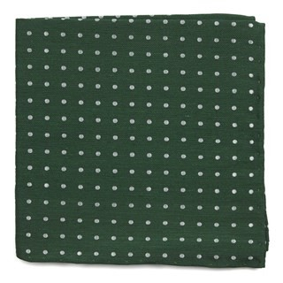 Dotted Dots Clover Green Pocket Square