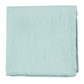 Bulletin Dot Spearmint Pocket Square