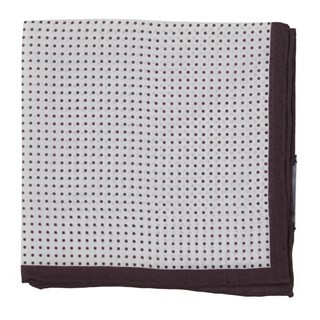 Domino Dots Burgundy Pocket Square