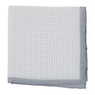 Domino Dots Silver Pocket Square
