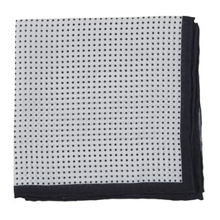 Domino Dots Black Pocket Square