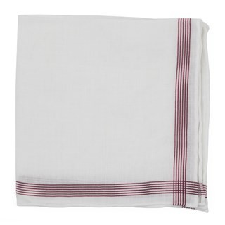 Old Town Border Burgundy Pocket Square