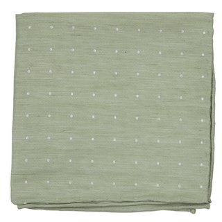 Bulletin Dot Sage Green Pocket Square