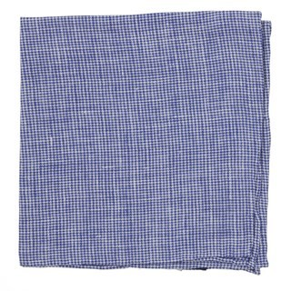 Summertide Tooth Navy Pocket Square