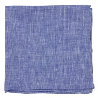South End Solid Blue Pocket Square