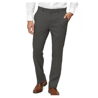 Solid Wool Grey Dress Pants