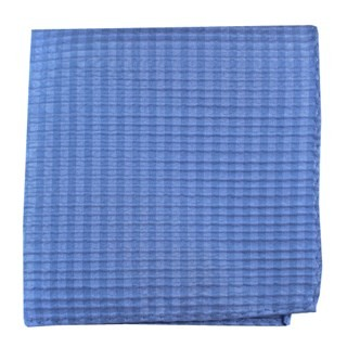 Silk Seersucker Solid Light Blue Pocket Square