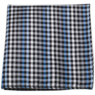 Daydream Plaid Black Pocket Square