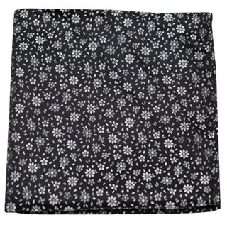 Milligan Flowers Classic Black Pocket Square