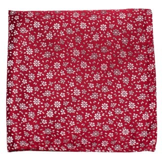 Milligan Flowers Red Pocket Square