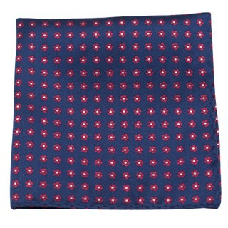 Anemones Navy Pocket Square