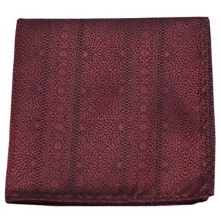 Interlaced Burgundy Pocket Square
