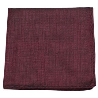 Debonair Solid Deep Burgundy Pocket Square