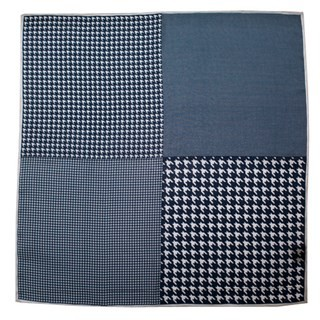 Houndstooth Panel Navy Pocket Square