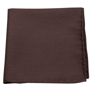 Astute Solid Chocolate Pocket Square