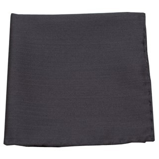 Astute Solid Charcoal Pocket Square