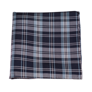 Narrative Plaid Navy Pocket Square