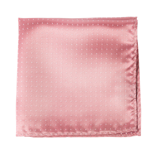 Mini Dots Salmon Pink Pocket Square