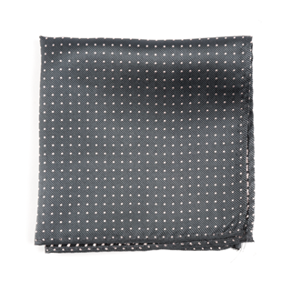 Mini Dots Charcoal Pocket Square