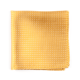 Pindot Gold Pocket Square