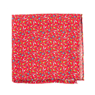 Fentone Floral Apple Red Pocket Square