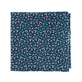 Fentone Floral Navy Pocket Square