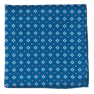 Steady Bloom Serene Blue Pocket Square