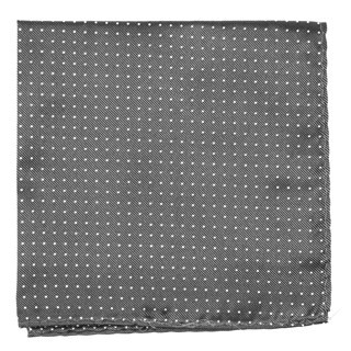 Mini Dots Charcoal Grey Pocket Square