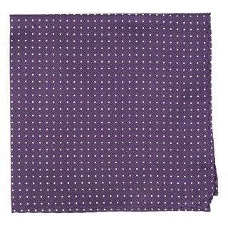 Mini Dots Eggplant Pocket Square