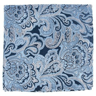 Designer Paisley Navy Pocket Square