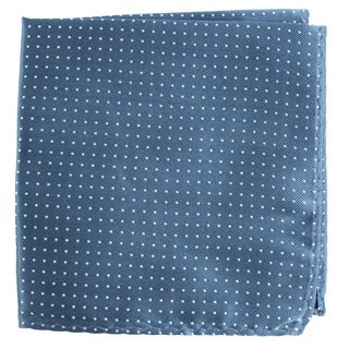 Mini Dots Whale Blue Pocket Square
