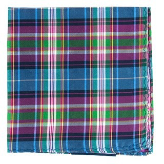 West Village Plaid Fuchsia Pocket Square