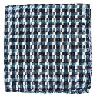 Polo Plaid Navy Pocket Square