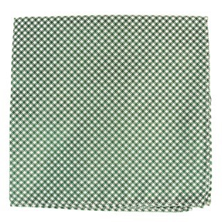Bahama Checks Hunter Green Pocket Square