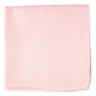 Be Married Checks Blush Pink Pocket Square