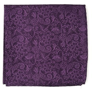 Ceremony Paisley Eggplant Pocket Square