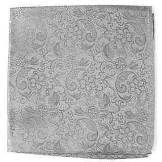 Ceremony Paisley Silver Pocket Square