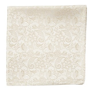 Ceremony Paisley Light Champagne Pocket Square