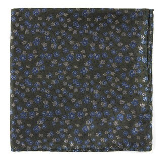 Free Fall Floral Army Green Pocket Square