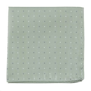 Suited Polka Dots Sage Green Pocket Square