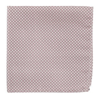 Be Married Checks Mauve Stone Pocket Square