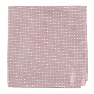 Mini Dots Mauve Stone Pocket Square
