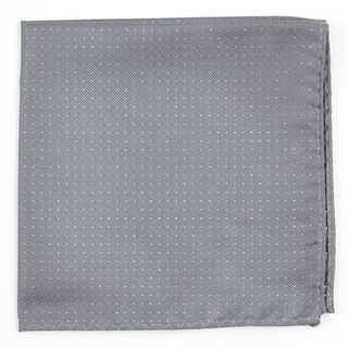 Flicker Silver Pocket Square