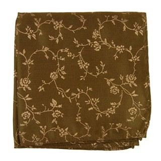 Rose Garden Chocolate Pocket Square