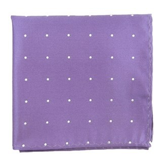 Satin Dot Lavender Pocket Square